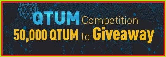 QTUM Competition, 50,000 QTUM to Giveaway, 2018/3/20 0:00 AM – 2018/3/27 0:00 AM(UTC)
